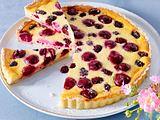 Kirsch-Brombeer-Pudding-Tarte Rezept