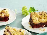 Kirsch-Brownie mit Streuseln Rezept