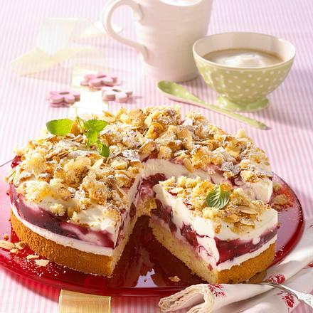 Kirsch-Joghurt-Flockentorte Rezept