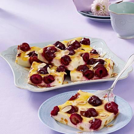 Kirsch-Käse-Kuchen vom Blech Rezept