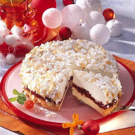 Kirsch-Käse-Torte mit Baiserflocken Rezept