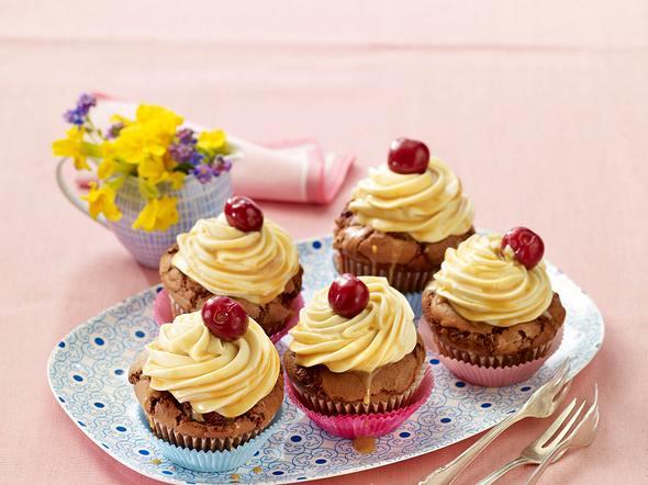 Kirsch-Karamell-Cupcakes Rezept