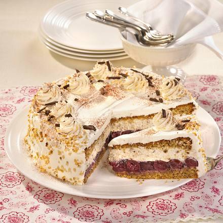 Kirsch Nuss Torte Rezept Lecker