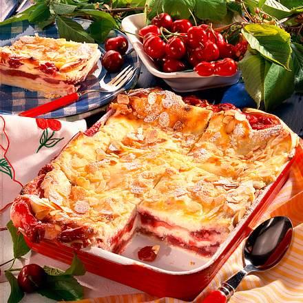 Kirsch-Quark-Lasagne Rezept