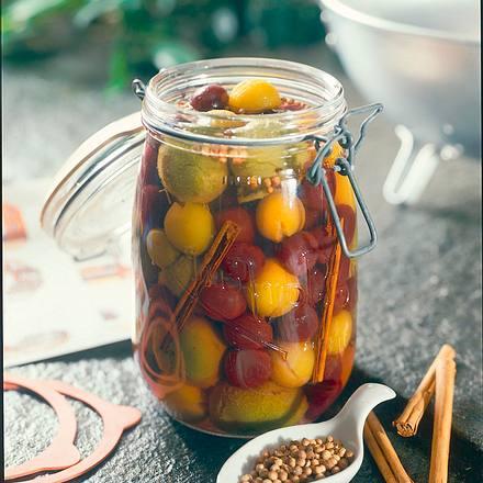 Kirsch-Reineclauden-Mirabellen-Kompott Rezept