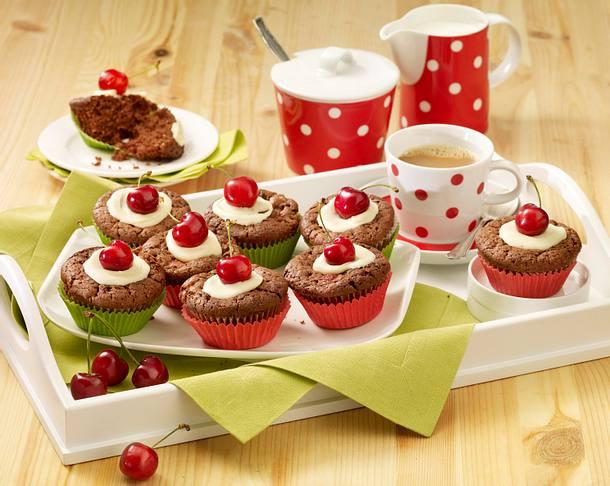 Kirsch-Schoko-Muffins Rezept