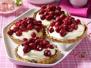 Kirsch-Schoko-Tarteletts Rezept