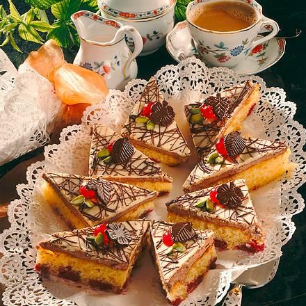 Kirsch Schokoladen Kuchen Vom Blech Rezept Lecker