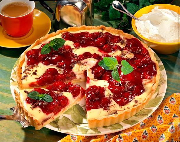 Kirsch-Torte mit Vanillecreme Rezept
