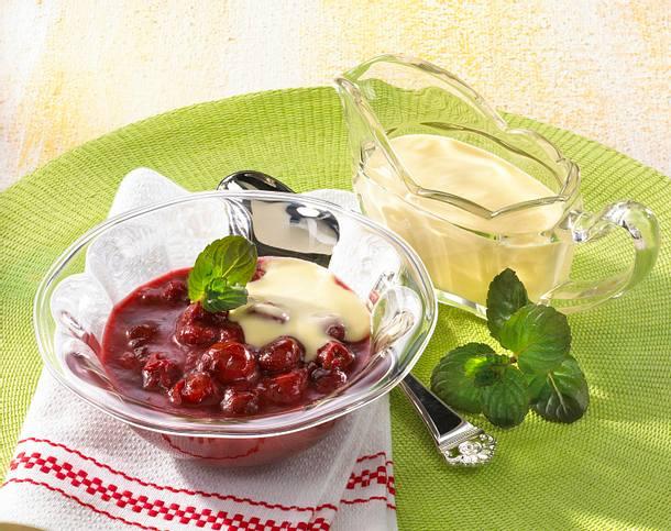 Kirschgrütze mit Vanillesoße Rezept