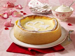 Kirschkäsekuchen zum Valentinstag Rezept