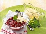 Kirschkompott mit Vanillesoße Rezept