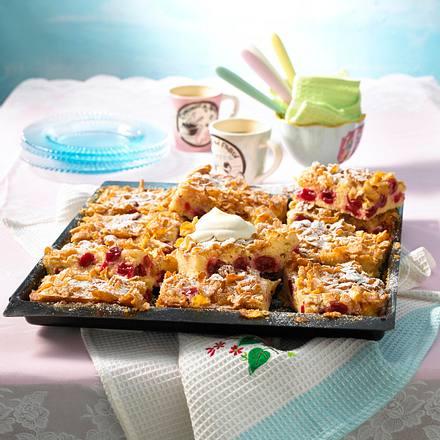 Kirschkuchen mit Cornflakes-Kruste Rezept