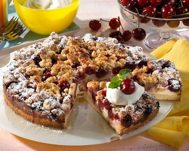 Kirschkuchen mit Vanille-Streuseln Rezept