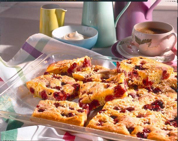 Kirschkuchen vom Blech (Diabetiker) Rezept