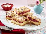 Kirschstreuselkuchen mit Vanille-Schmand-Guss Rezept