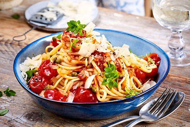 Kirschtomaten-Pasta auf Kaper(n)fahrt Rezept