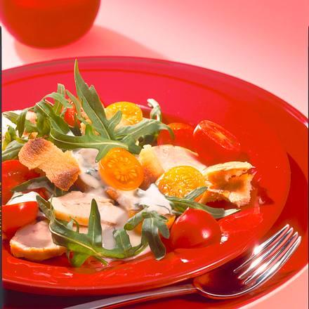 Kirschtomatensalat mit Minz-Joghurt Rezept