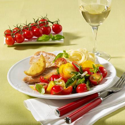 Kirschtomatensalat mit Zitronenpute Rezept