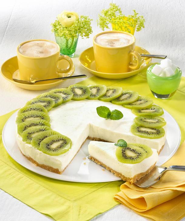kiwi joghurt torte rezept lecker. Black Bedroom Furniture Sets. Home Design Ideas