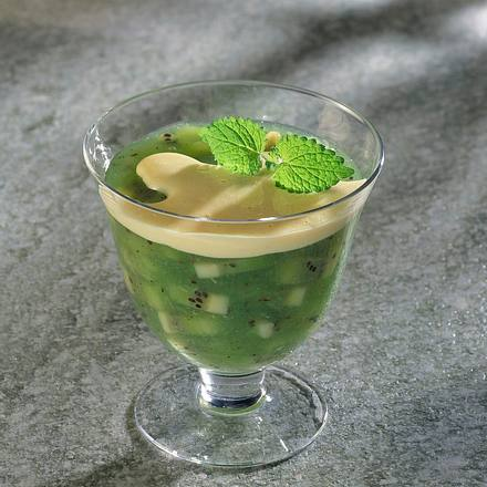 Kiwigrütze mit Vanille-Soße Rezept