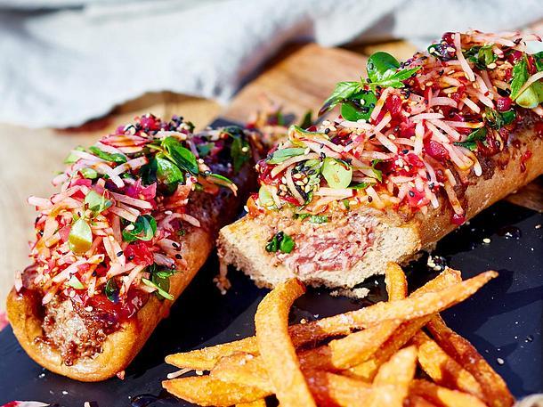 Klabautermann-Hotdogs mit Radieschenhut Rezept