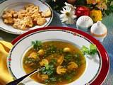 Klare Champignon-Erbsen-Suppe Rezept