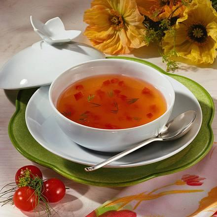 Klare Tomatensuppe Rezept