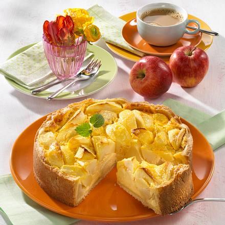 Klassische Apfel-Rahm-Torte Rezept
