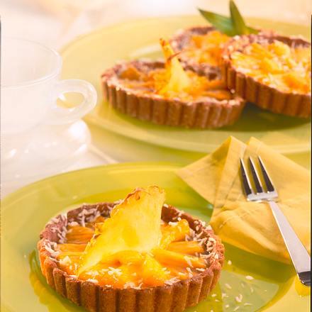 Kleine Ananas-Kokos-Tartes Rezept