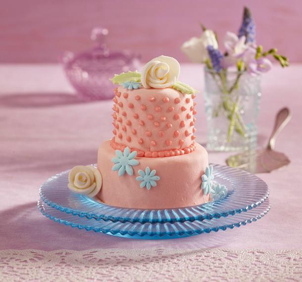 Kleine Blüten-Torte Rezept