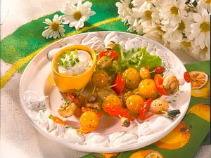 Kleine bunte Gemüsespieße Rezept