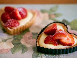 Kleine Erdbeer-Tarteletts mit Mandelcreme Rezept