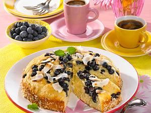 Kleine Heidelbeer-Kokos-Torte (Diabetiker) Rezept