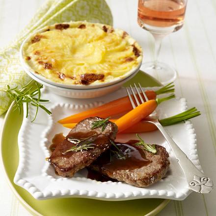 Kleine Kalbsschnitzel in Rosmarin-Quitten-Soße Rezept