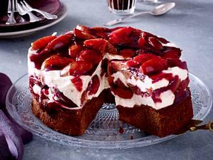 Kleine Pflaumen-Zimt-Torte Rezept