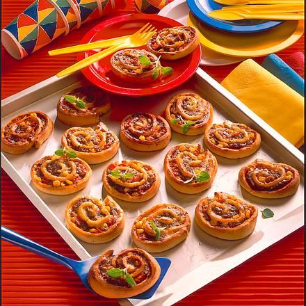 Kleine Pizzaschnecken Rezept
