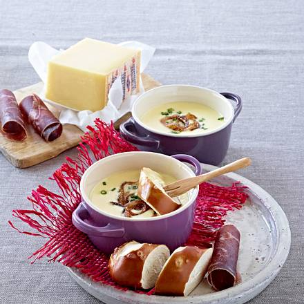 Kleines Käse-Fondue Rezept