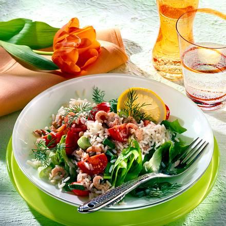 Knackiger Reis-Salat mit Nordsee-Krabben Rezept