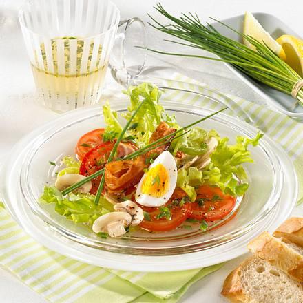 Knackiger Salat in Kräuter-Vinaigrette Rezept
