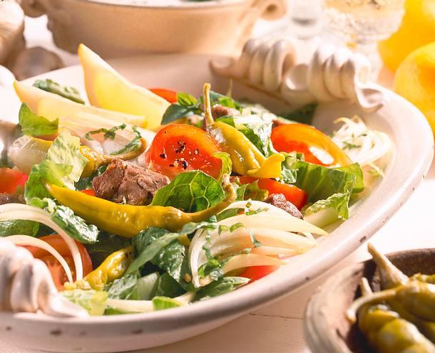 Knackiger Salat mit Lammfleisch Rezept
