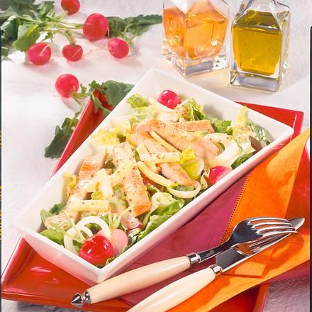 Knackiger Salat mit Putenstreifen (Diabetiker) Rezept