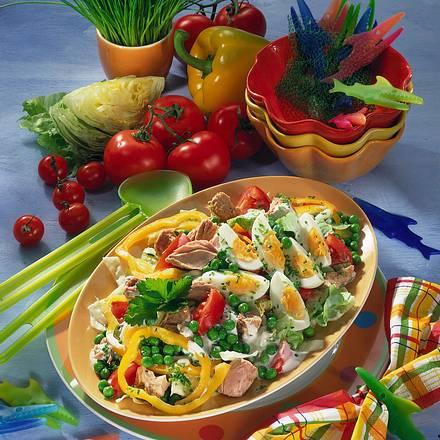 Knackiger Thunfisch-Salat Rezept