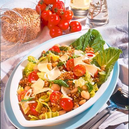 Knackiger Weizensalat mit Gouda Rezept