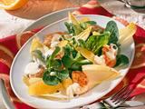 Knackiger Winter-Zitrus-Salat mit gebratenen Paprika-Putensteifen Rezept