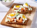 Knäckebrot mit Lachs-Eiersalat Rezept