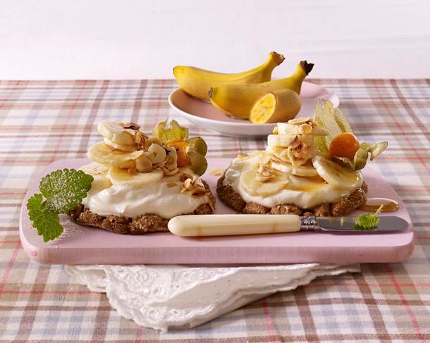 Knäckebrot mit Quark und Banane Rezept