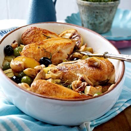 Knobi-Hähnchenfilets mit Oliven Rezept