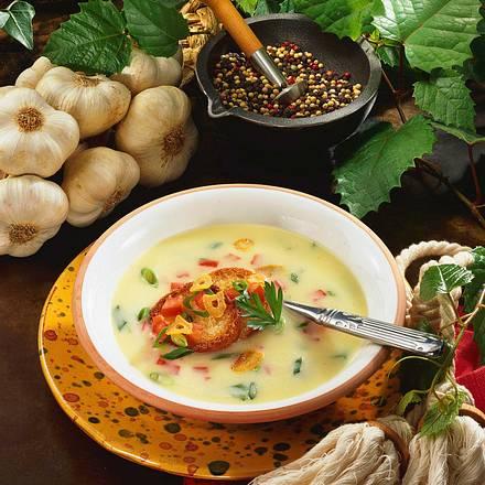 Knoblauch-Creme-Suppe Rezept