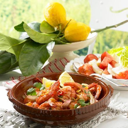 Knoblauch-Garnelen mit Brandy Rezept